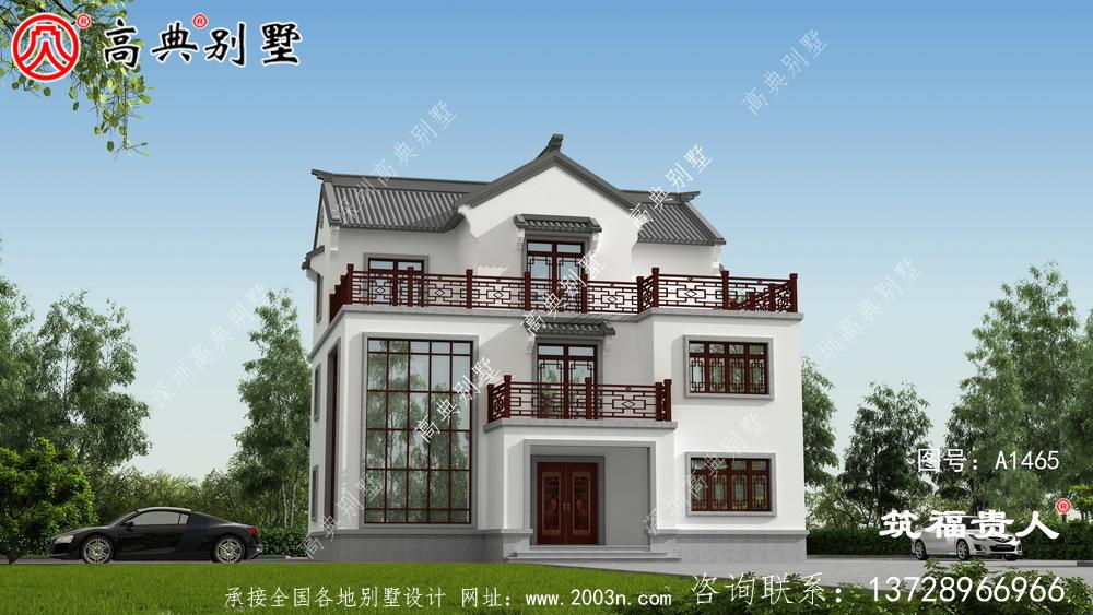 现代简约新中式别墅设计图
