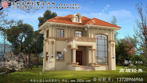 相城区欧式两层别墅的设计图配复式