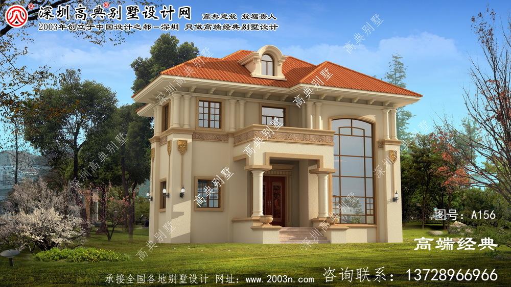 相城区欧式两层别墅的设计图配复式大厅落地窗