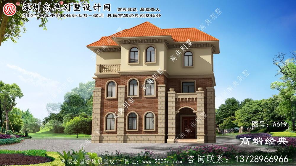 铜官山区三层欧式别墅设计图