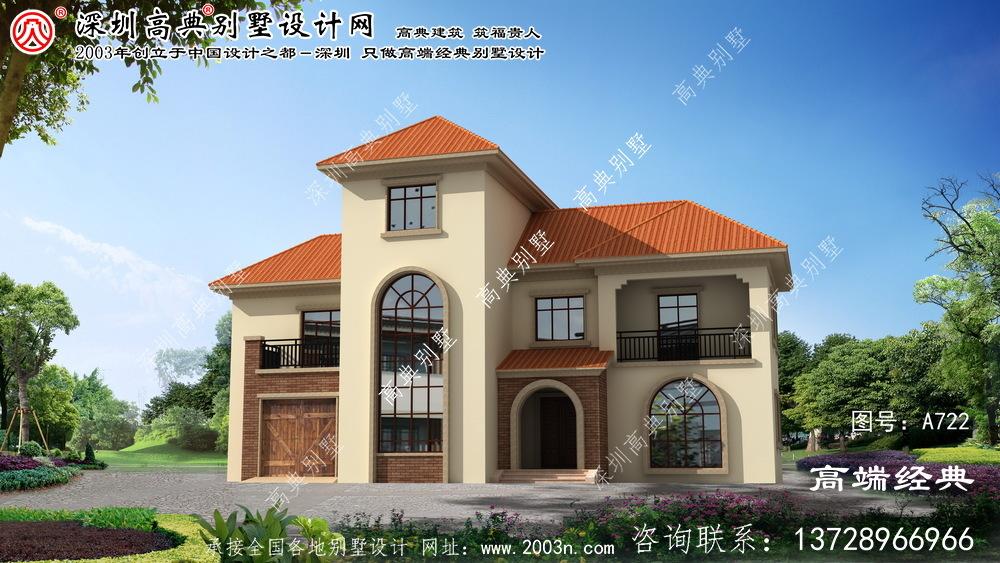 全椒县欧式风格三层别墅设计图