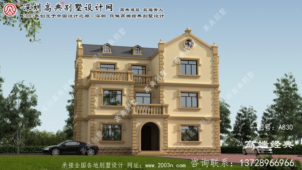 华安县三层别墅住宅设计图