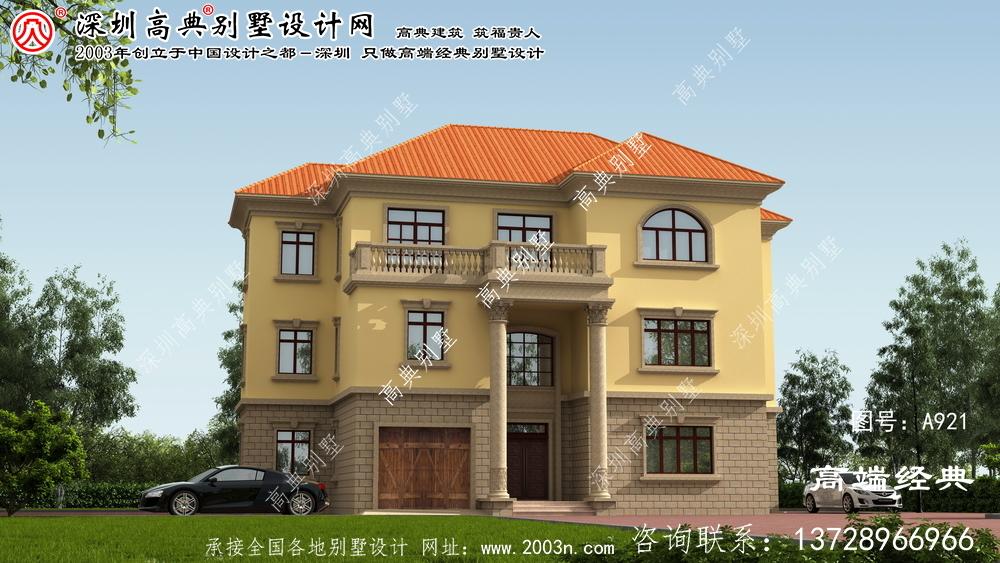 翔安区欧式风格三层别墅设计图