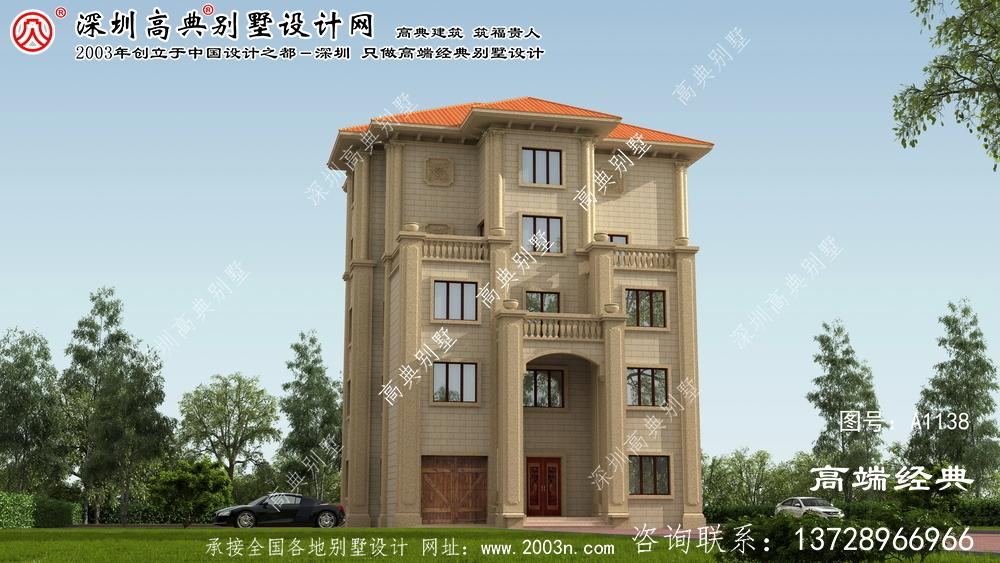 荣成市建筑设计别墅效果图