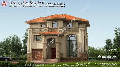 晋州市三层带车库别墅设计图