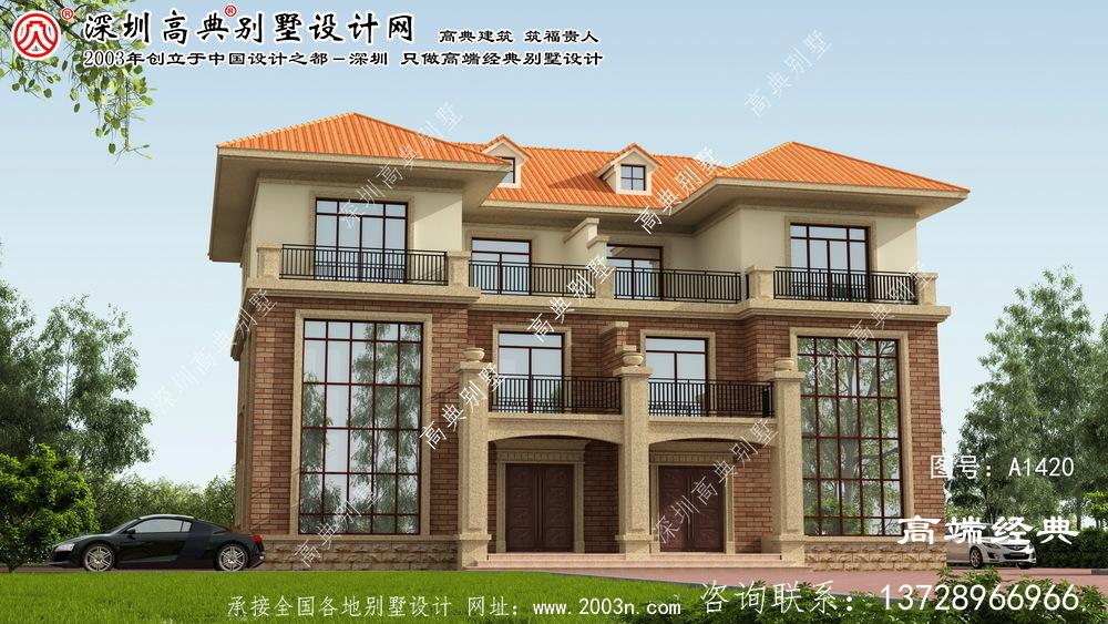 兴隆县双拼别墅庭院设计图