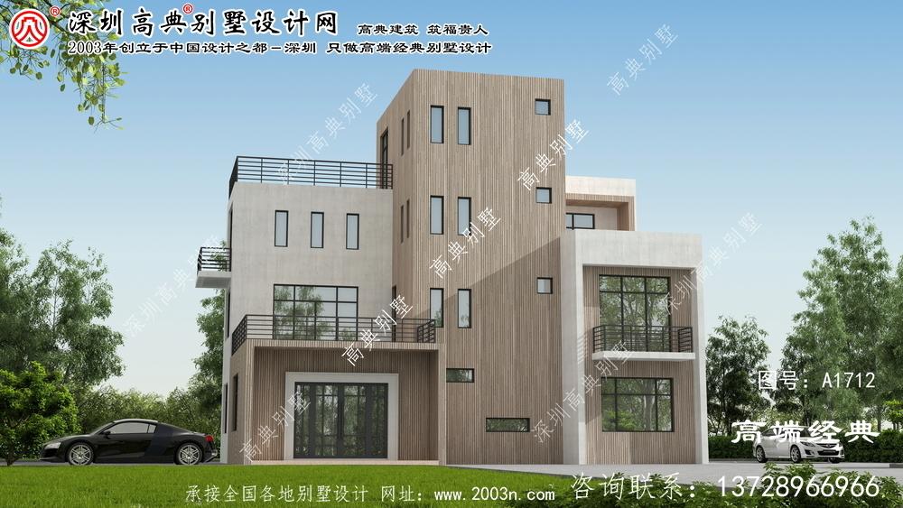 平遥县现代简约大户型别墅外观
