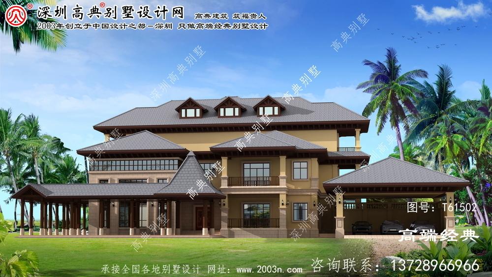 平山区百平方米的农村别墅设计图