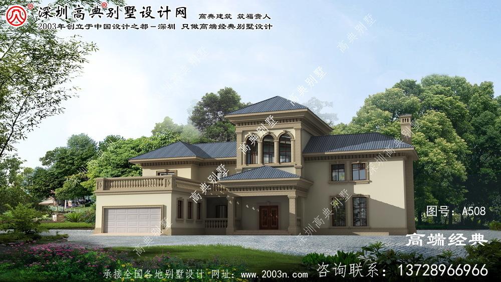 牡丹江市2层别墅欧式设计图