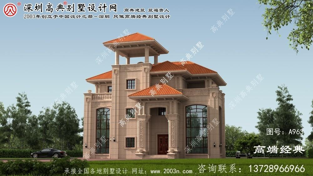 黄陂区欧式别墅设计图纸下载