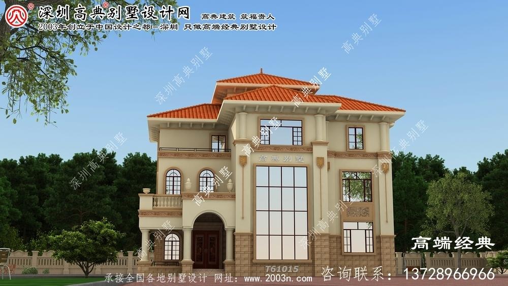 攀枝花市三层别墅设计效果图