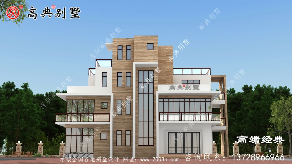 尼木县农村独栋别墅设计图