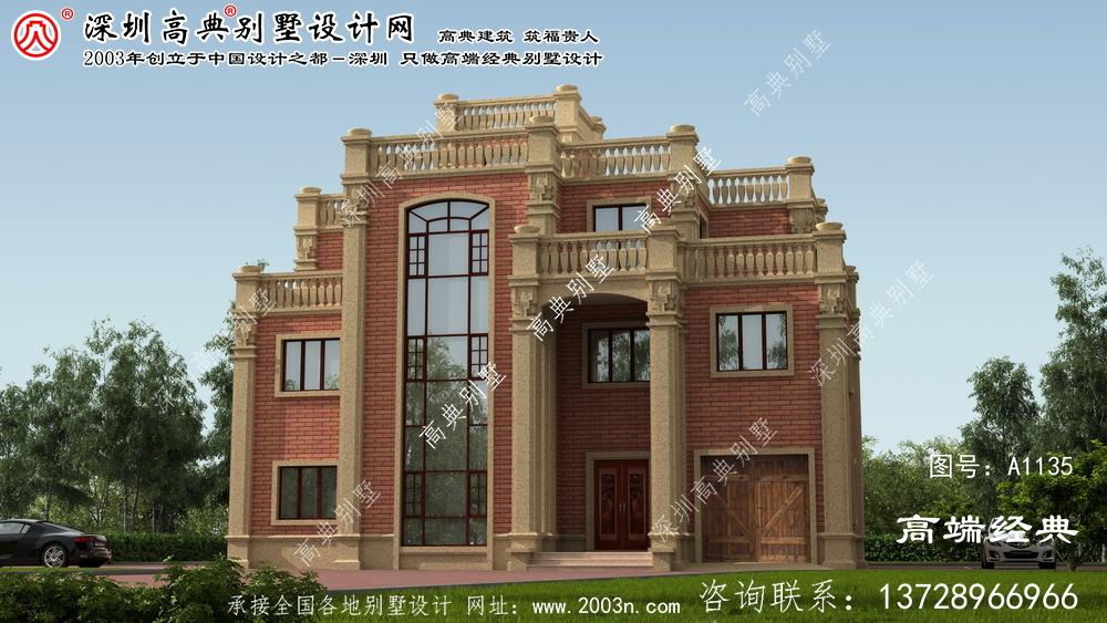 桐梓县三层简欧别墅,适合农村沿街的住宅,性价比真的很高哦。