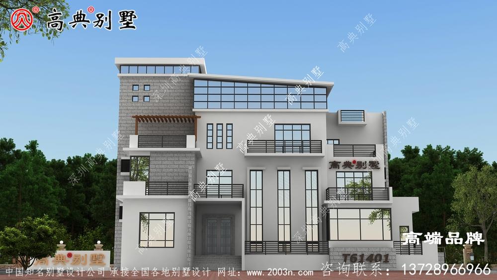 农村现代别墅设计高级三层楼的设计图