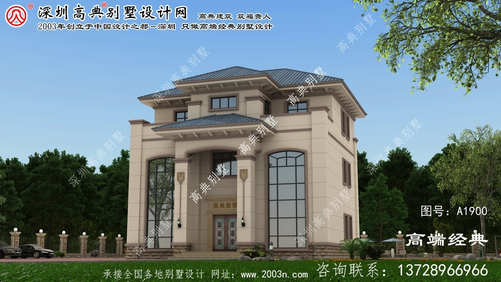 门头沟区设计图纸绘制的欧式三层别墅户型美观实用。
