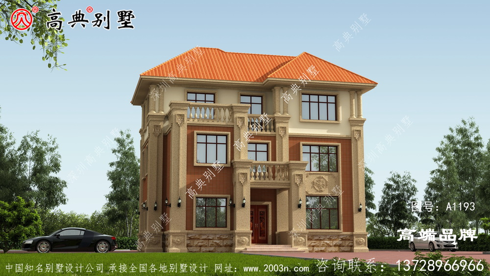 别墅设计效果图最重要的是户型设计 和外观 造型