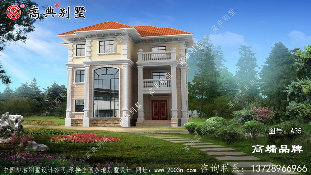农村3层设计图老家盖一栋,真心不错!