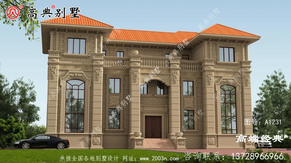 以称得上完美两字欧式石材别墅