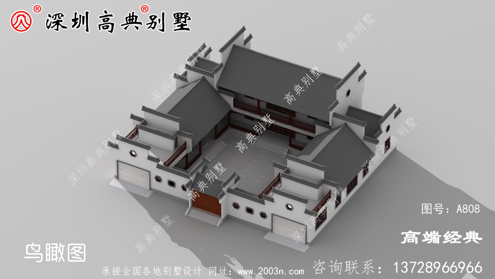 二层别墅设计图,款款实用经典!户型方正简约大气的别墅,经典又耐看