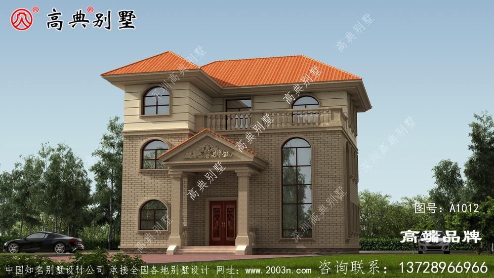 复式别墅配外观欧式风格很受欢迎。