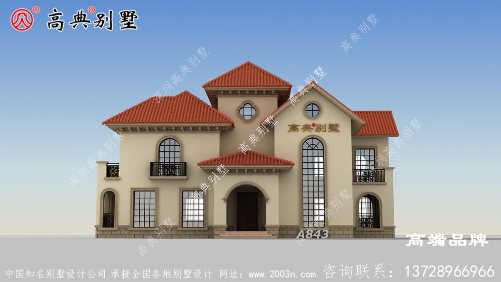 三层自建房设计图,住着宽敞。