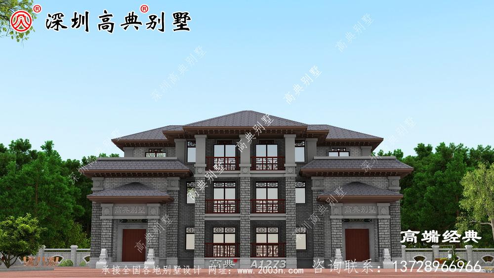 新中式别墅设计图,优雅大气,这款小别墅真的不容错过。