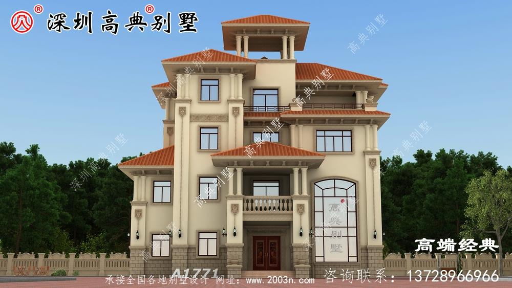 别墅设计图,精致漂亮,有一所这样的房子,绝不愿在城里买房