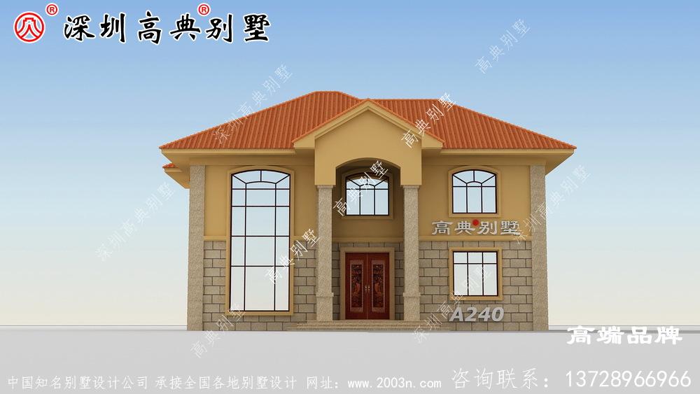二层现代极简别墅设计图推荐,30万搞定