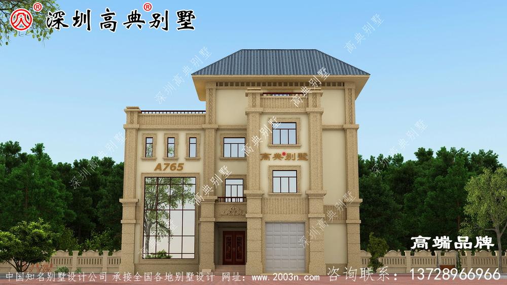 现代风三层别墅设计图,169.63平的户型非常接地