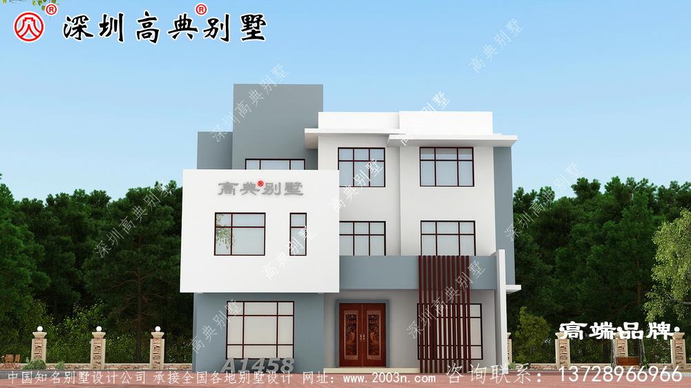 别墅设计图,赚了钱一定要建一栋这么漂亮的别墅