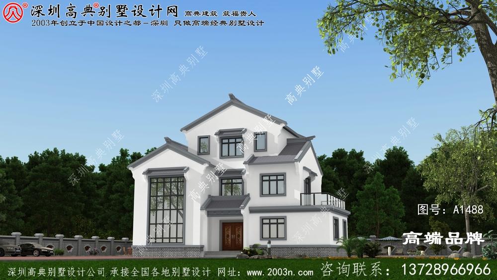 仿古中式三层住宅楼设计图,中国传统精髓,真是美爆了