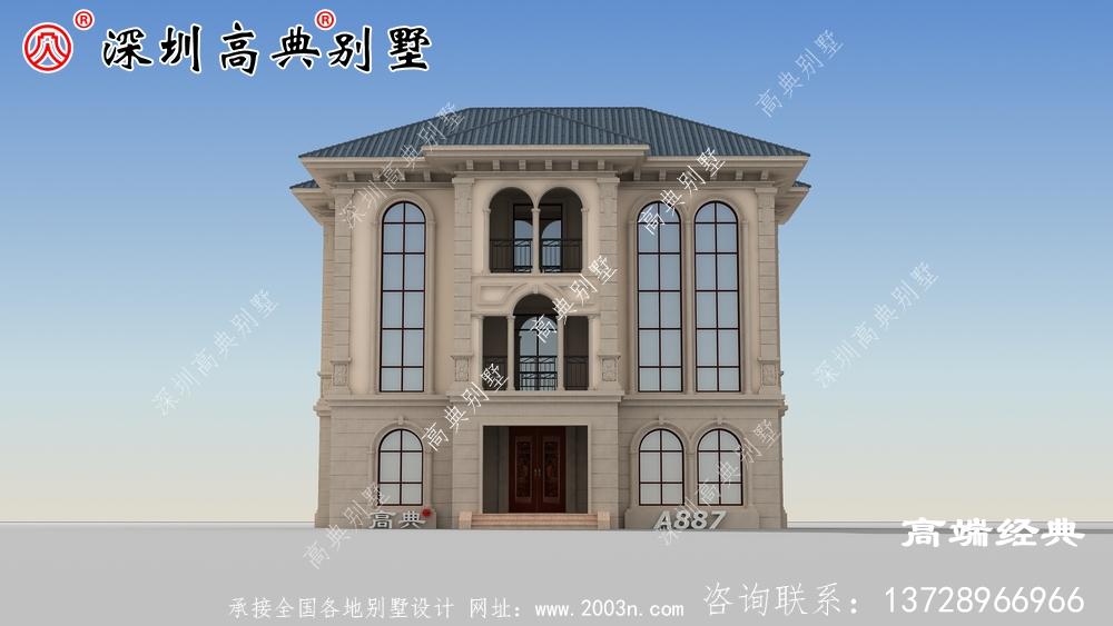 农村三层欧式别墅设计图,不仅看起来很气派,住着也宽敞舒服