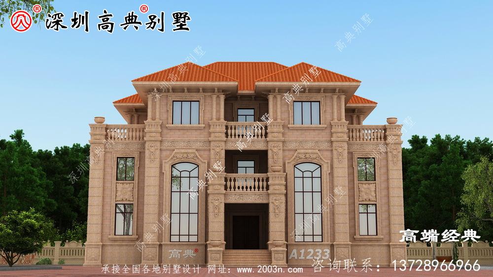 农村自建房三层设计图,外观大气户型实用!