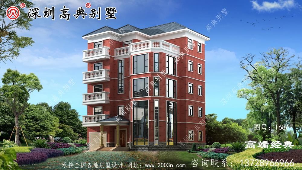 最好看的农村五层楼房,美观又宜居,效果让人太惊艳