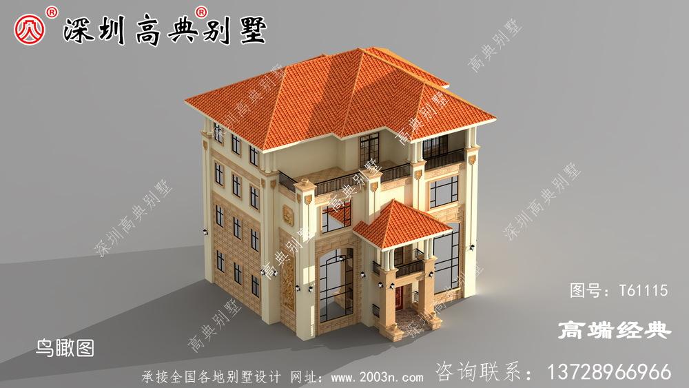 南方农村超火三层半别墅设计图,这样的别墅谁敢说不好看。