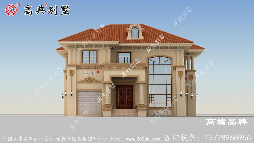 复式两层户型图,满足大家的居住需求的堂屋和大露台