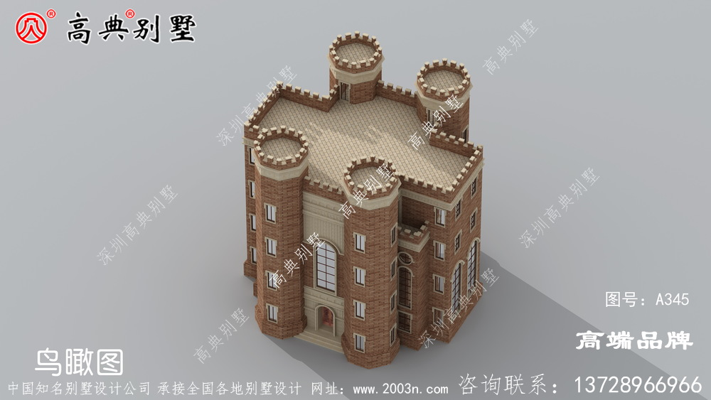 西式城堡别墅占地面积适中,给你独一无二的高层住宅
