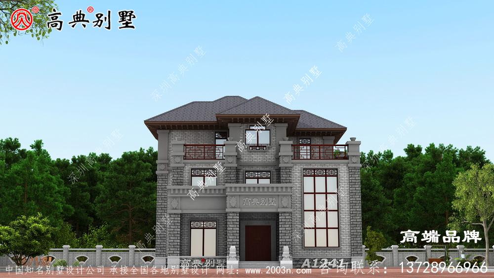 中式别墅这样建更具亲和力和防御力 ,给爱人一个舒适的家