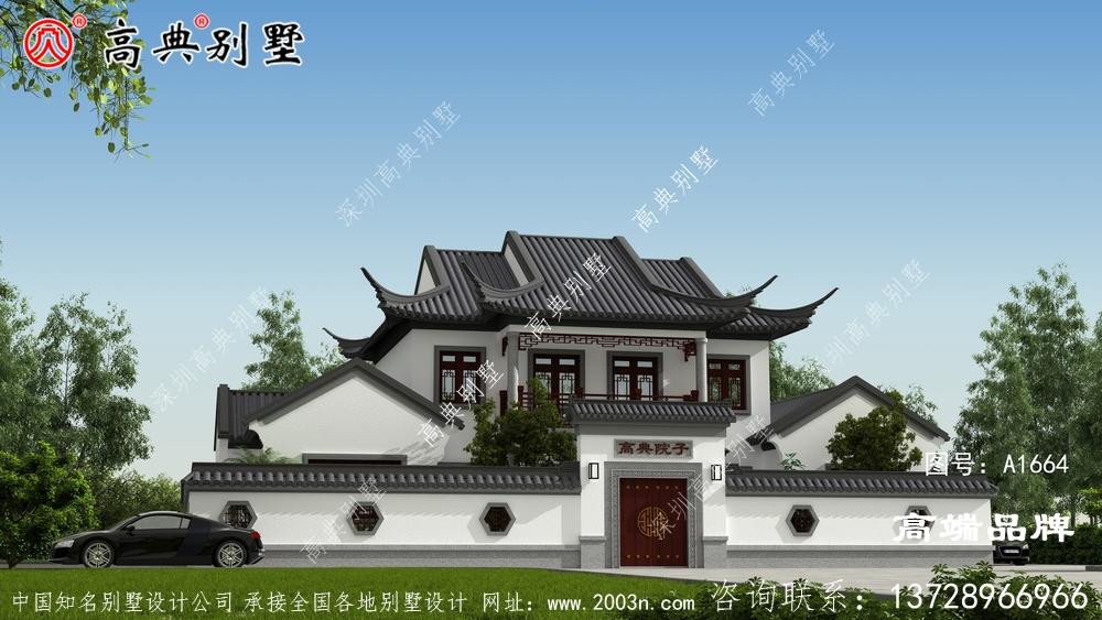 这样的一栋中式四合院,在农村建一百年不过时
