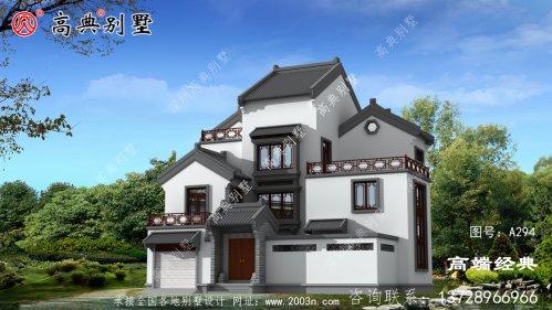屋顶采用灰色琉璃瓦建