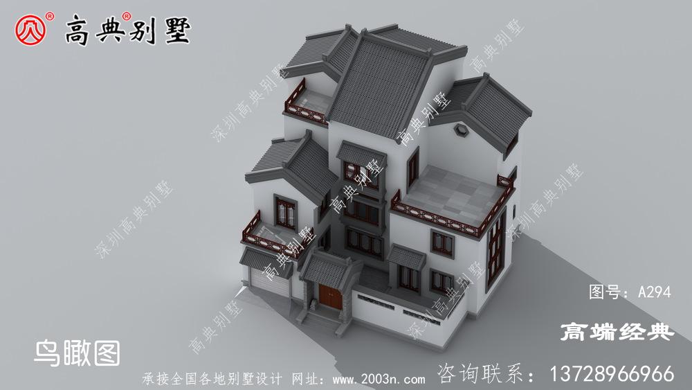 屋顶采用灰色琉璃瓦建设该户型舒适宽敞为主