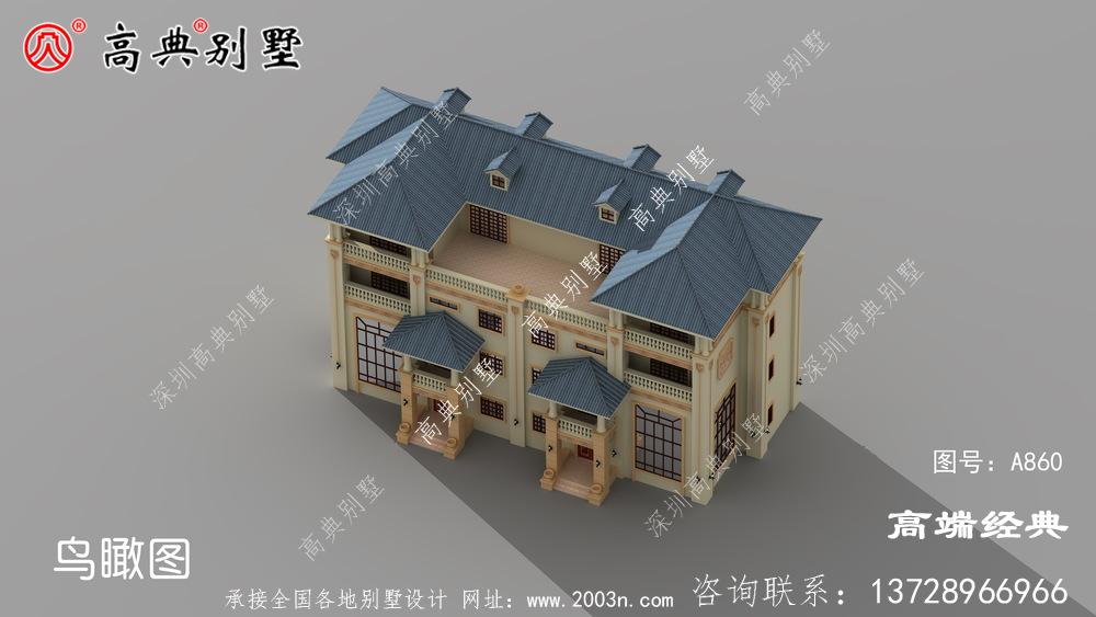 这样的欧式风格兄弟双拼四层别墅住宅,连隔壁村都来参考了