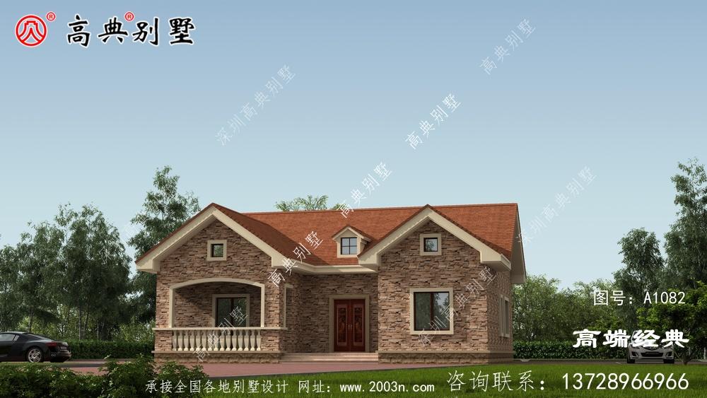 欧式小别墅,外观优雅气派,很符合农村朋友的审美。