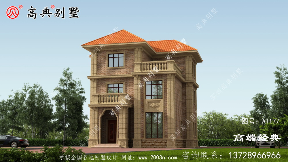 这款欧式自建房,外观和布局都很好,老家这样盖房子倍儿面。