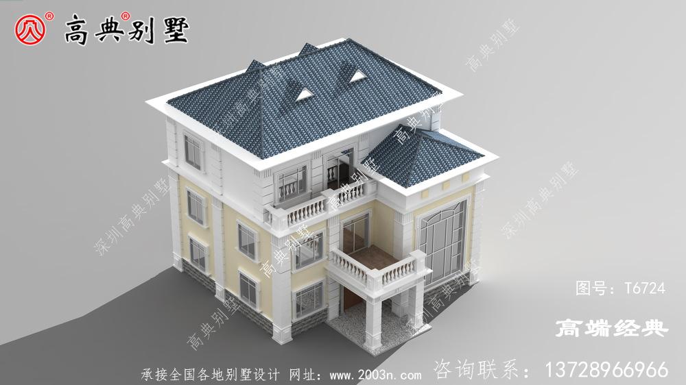 超清新典雅三层复式简欧别墅,出淤泥而不染