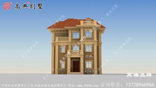 农村复式二层半别墅图